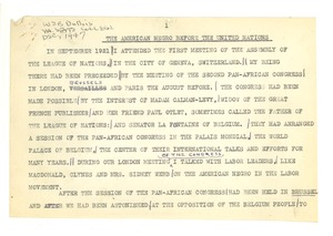 Thumbnail of The  American Negro before the United Nations [fragment]
