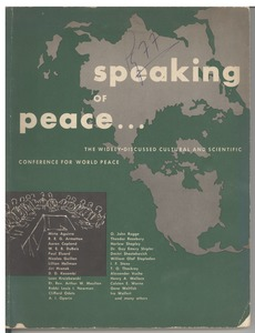 Thumbnail of Cultural and scientific conference for world peace report