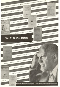 Thumbnail of W. E. B. Du Bois scholar, educator, author, fighter for freedom and peace