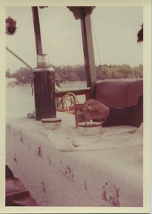 Thumbnail of Having tea on a riverboat on the Kunming river
