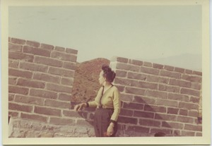 Thumbnail of Shirley Graham Du Bois at the great wall of China