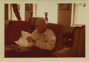Thumbnail of W. E. B. Du Bois reading at his home in Accra, Ghana
