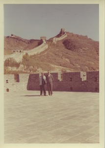 Thumbnail of Two unidentified men at the great wall of China