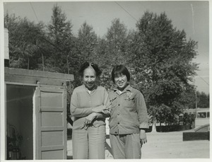 Thumbnail of Shirley Graham Du Bois with an unidentified women