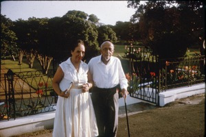 Thumbnail of W. E. B. Du Bois and Shirley Graham Du Bois in their garden at their home in             Accra, Ghana