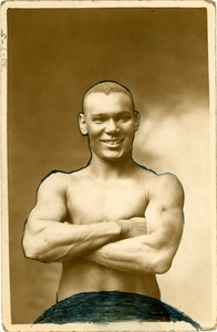 Thumbnail of Unidentified African American boxer