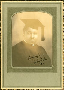 Thumbnail of Unidentified African American man in academic gown and cap