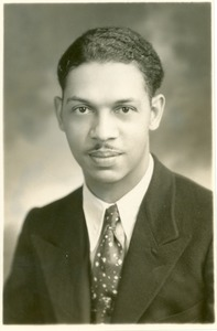 Thumbnail of Unidentified African American man in suit jacket and tie