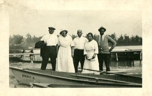Thumbnail of W. E. B. Du Bois at camp in Idlewild, Michigan