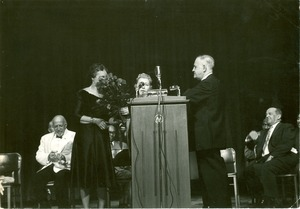 Thumbnail of W. E. B. Du Bois at 90th birthday celebration in Chicago, 1958