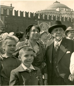 Thumbnail of W. E. B. Du Bois and Shirley Graham Du Bois viewing the May Day parade in Moscow's Red Square