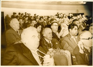 Thumbnail of W. E. B. Du Bois in audience at conference in Soviet Union