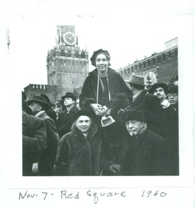 Thumbnail of Shirley Graham Du Bois and W. E. B. Du Bois, Red Square, Moscow