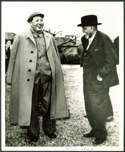 Thumbnail of W. E. B. Du Bois with Mao Tse-tung in a garden, Lake Country, Central China