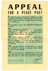 Thumbnail of Appeal for a peace pact