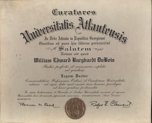 Thumbnail of Atlanta University honorary degree