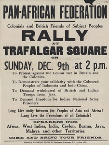 Thumbnail of Pan-African Federation rally poster