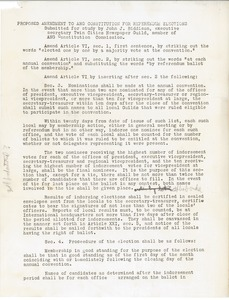 Thumbnail of Proposed amendment to American Newspaper Guild constitution for referendum             elections