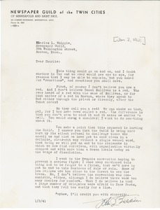 Thumbnail of Letter from John J. Biddison to Charles L. Whipple