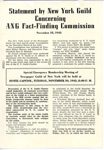 Thumbnail of Statement by New York Guild concerning ANG Fact-Finding Commission
