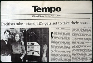 Thumbnail of Pacifists take a stand; IRS gets set to take their house