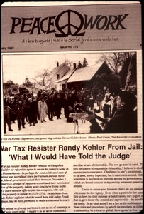 Thumbnail of War tax resister Randy Kehler from Jail: 'What I would have told the judge'