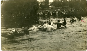 Thumbnail of Rope pull at the Campus Pond, Massachusetts Agricultural College