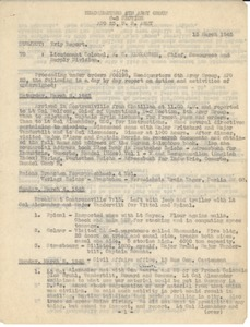 Thumbnail of Memorandum to Lt. Col. A. S. Alexander Trip report on vistis to inspect warehouses