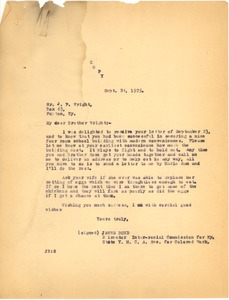 First page of Bond, James, correspondence