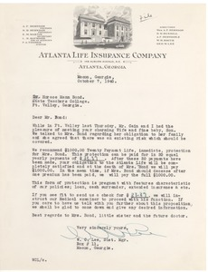 First page of Atlanta Life Insurance Company