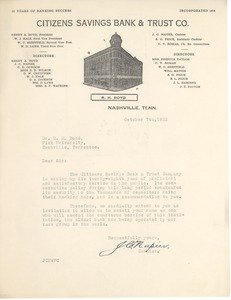 First page of Citizens Savings Bank and Trust Co. (Nashville, Tenn.)