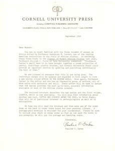 First page of Cornell University Press