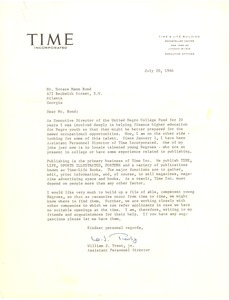 First page of Time, Inc.