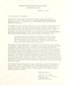 First page of United States Commission on Civil Rights