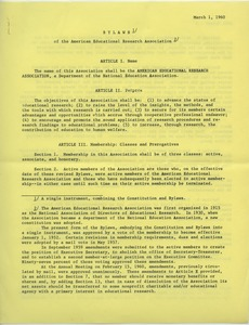 First page of American Educational Research Association