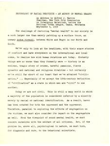 First page of Council on Race and Caste in World Affairs