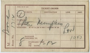 First page of Financial: airline and railroad tickets
