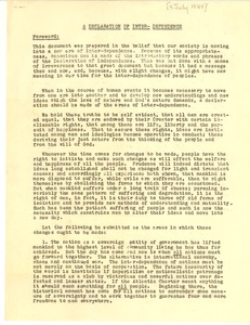 First page of Garrett Biblical Institute