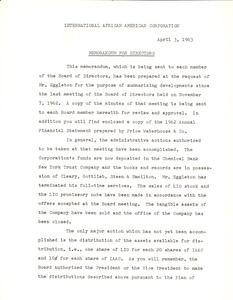 First page of International African American Corporation