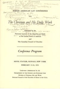 First page of National Council of the Churches of Christ