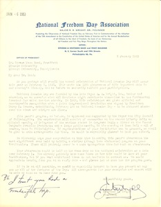 First page of National Freedom Day Association