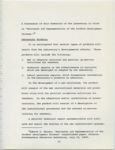 First page of Southeastern Education Laboratory (SEL)
