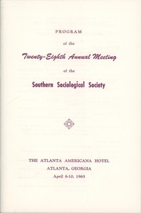 First page of Southern Sociological Society