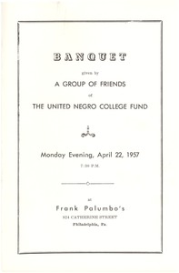First page of United Negro College Fund