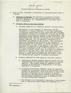 First page of Georgia State Department of Education