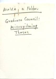 First page of Graduate Council