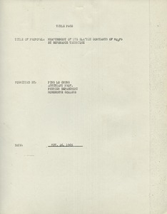 First page of Research Committee, proposals, A-C