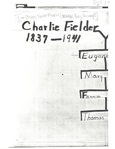 First page of Student family histories: Mason, Rubye Fielder (McCarver, Stemage, Bray)
