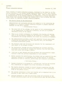 First page of Teacher education program