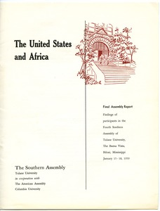 First page of African students survey: general